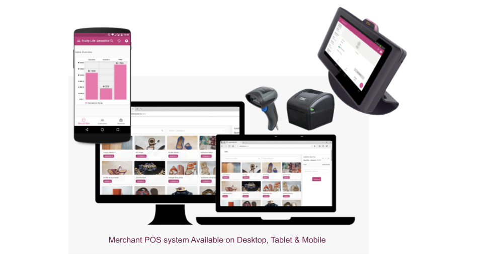 Merchant POS system Available on Desktop, Tablet & Mobile